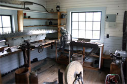 Recreation of a filing shop, located at the BC Forest Discovery Centre